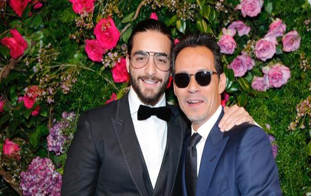 Marc Anthony besó a Maluma y su novia reacciona así | VIDEOS